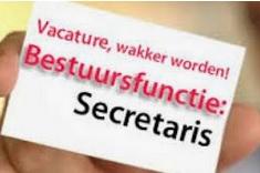 Vacature secretaris hoofdbestuur